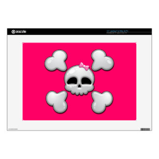 Girls Cartoon Skull Laptop Decals