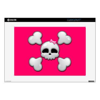 Girls Cartoon Skull Laptop Decals