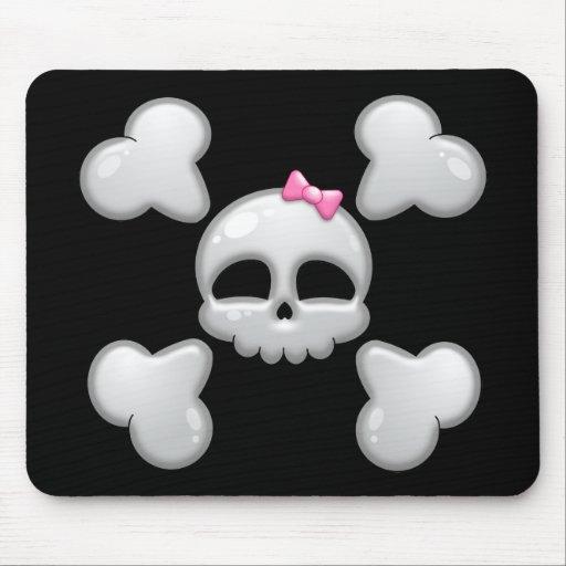 Girl's Cartoon Skull Mousepad