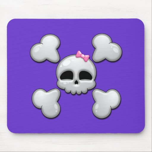 Girls Cartoon Skull Mouse Pads