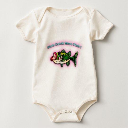 Girls Catch More Fish Baby Bodysuit