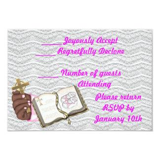Girls Christening Book 3.5x5 Paper Invitation Card
