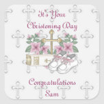 Girls Christening Shoes Stickers