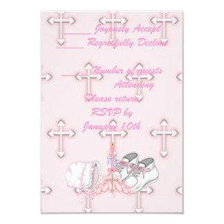 Girls Christening Wish 3.5x5 Paper Invitation Card