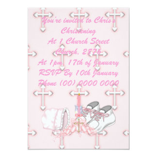 Girls Christening Wish Card