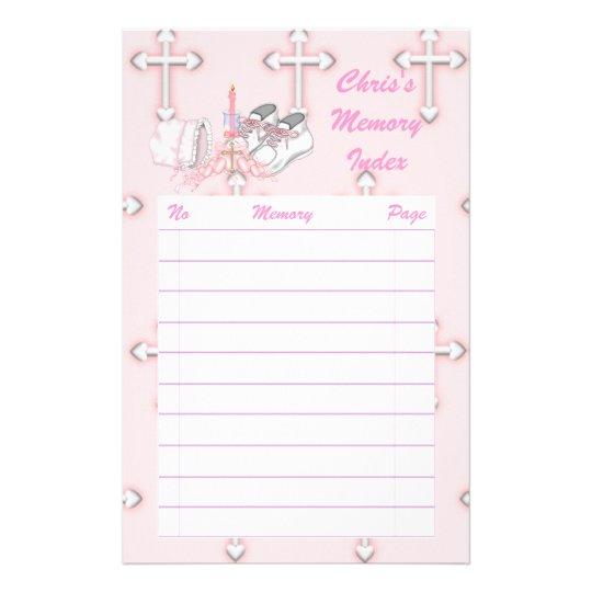 Girls Christening Wish Stationery