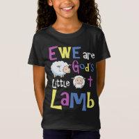 185662bb93902 Girls Christian Shirts - Ew God s Little Lamb