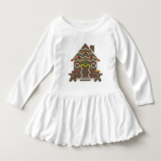 Girls Christmas Gingerbread House Holiday Candy Dress