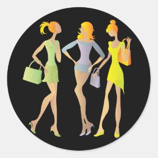girls classic round sticker