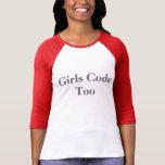 Girls Code Too Tee Shirts
