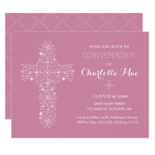 Religious invitations announcements zazzle girls confirmation religious invitation card filmwisefo
