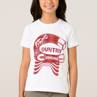 GIRLS COUNTRY COWGIRL RINGER T-SHIRT