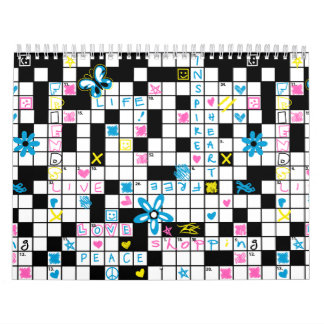 Girl's crossword puzzle calendar