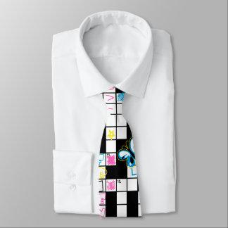 Girl's crossword puzzle tie