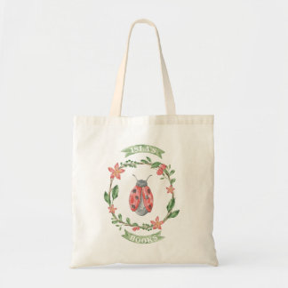Girl's Custom Library Bag - Ladybug Tote