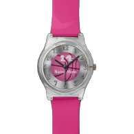 Girls Customizable Basketball Watches NAME, NUMBER