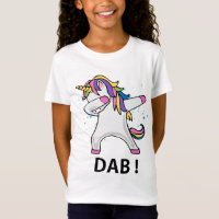 Girls cute dabbing unicorn stars t-shirt