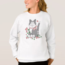 "Girl's Cute ""Kitten Love"" Sweatshirt"