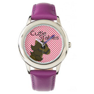 Girls Cutie Stables Cute Horse with Hearts Watch