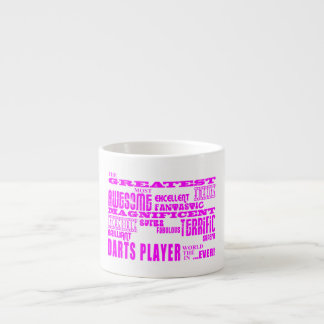 Girls Darts Players : Pink Greatest Darts Player Espresso Cup