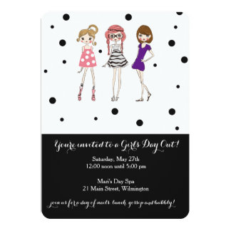 "Girls Day / Bachelorette / Glamour Party Invite 5"" X 7"" Invitation Card"