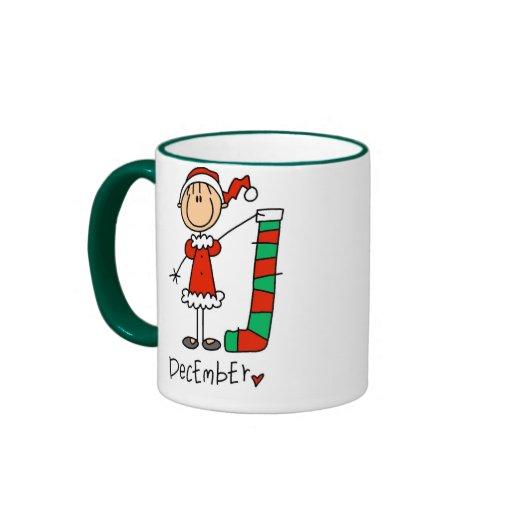 Girl's December Birthday Coffee Mugs