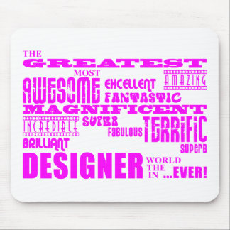 Girls Designers Birthdays : Pink Greatest Designer Mouse Pad