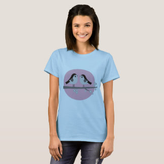 Girls designers tshit : romance edition with Birds T-Shirt