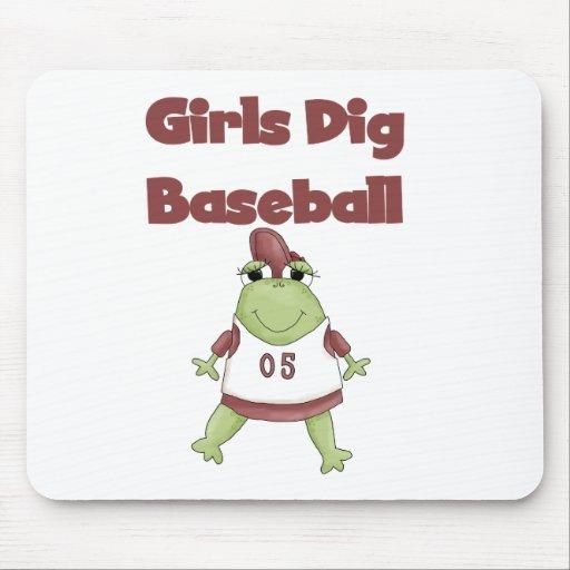 Girls Dig Baseball Mouse Mat