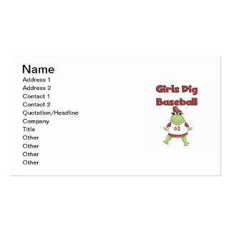 Girls Dig Baseball T shirts and Gifts Business Card