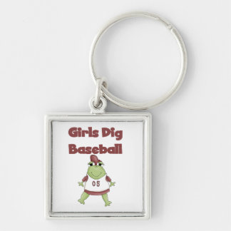 Girls Dig Baseball T shirts and Gifts Keychain