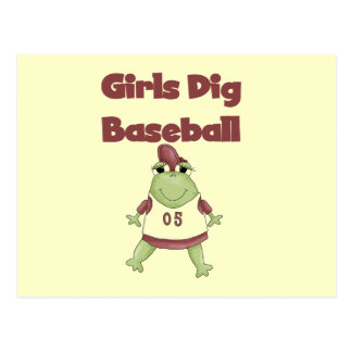 Girls Dig Baseball T shirts and Gifts Postcards