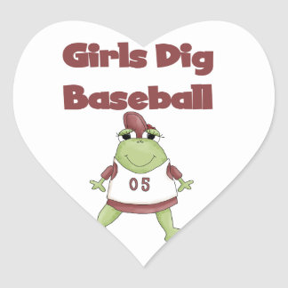 Girls Dig Baseball T shirts and Gifts Sticker
