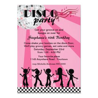 "Girls Disco Birthday 5"" X 7"" Invitation Card"