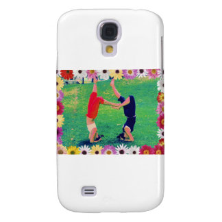 Girls Do Yoga Headstand Samsung Galaxy S4 Covers