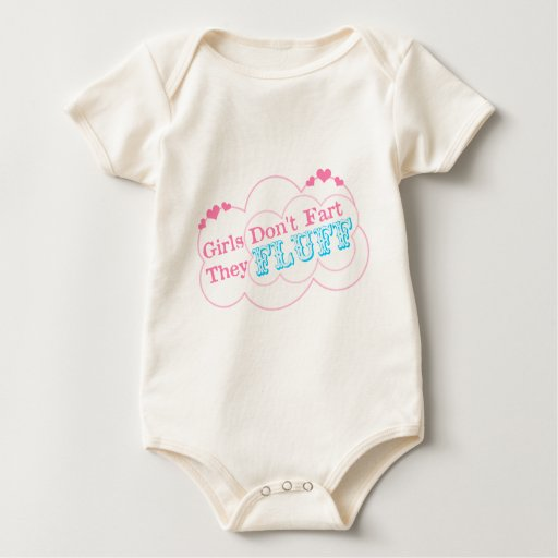 Girls Don't Fart They Fluff Baby Bodysuit