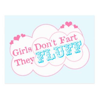 Girls Don't Fart They Fluff Postcard