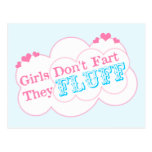 Girls Don't Fart They Fluff Postcards