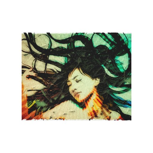 Girl's Dream in a Dream. Gallery Wrapped Canvas