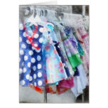 Girl's Dresses at Street Fair Greeting Cards