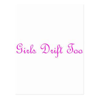 Girls Drift Too Postcard
