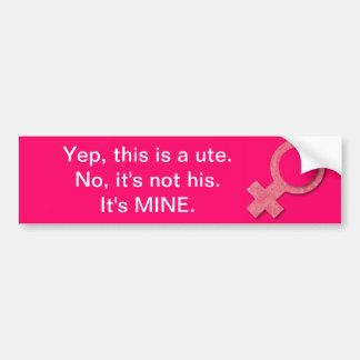 Girls Drive Utes Too! Bumper Sticker