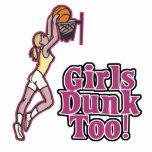 girls dunk too female baskeball design photo sculpture