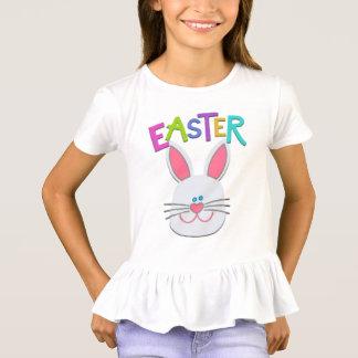 Girls Easter Bunny Ruffled T-Shirt