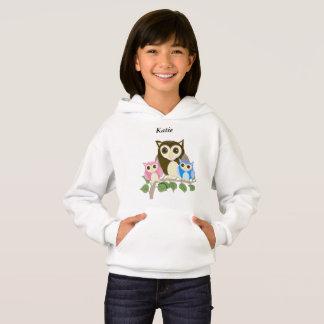 Girls editable Owl Hoodie
