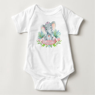 Girls Elephant Baby Shirts