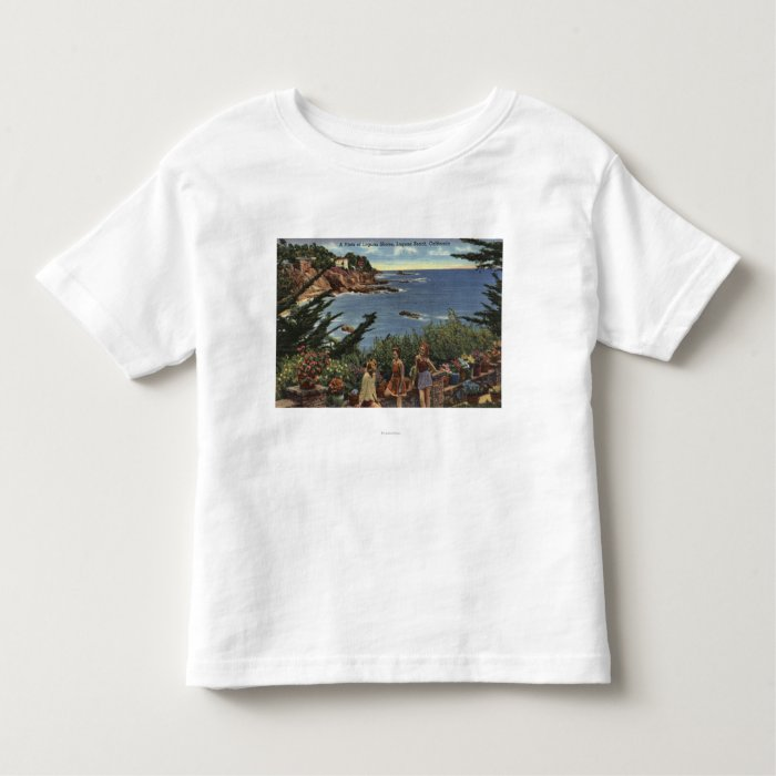 Girls Enjoying a Vista of Laguna Shores Toddler T-shirt