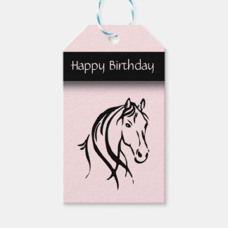 Girls Equine Birthday Pack Of Gift Tags
