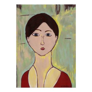 Girl's Face After Matisse print
