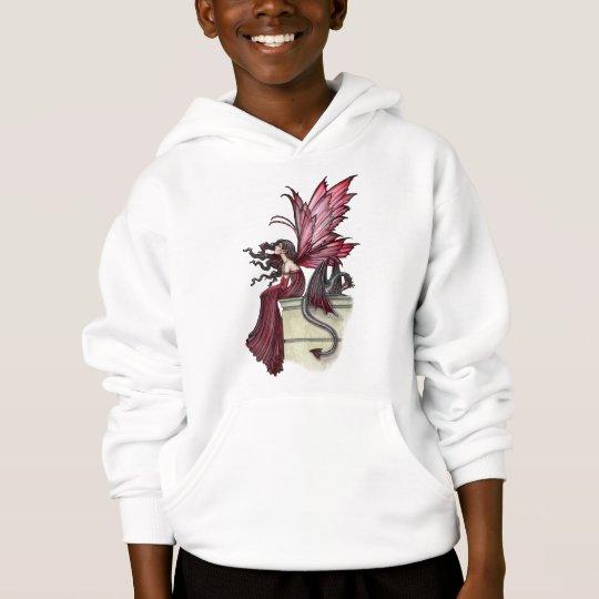 Girls Fairy Dragon Sweatshirt by Molly Harrison